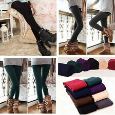 Winter Warm Women Skinny Slim Leggings Thick Stretch Footless Tight Pants ONE