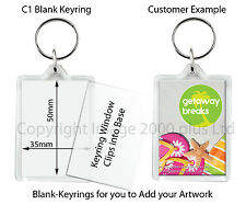 Make your own Personalised Keyrings, Fridge Magnets, Coasters Clear Blank 50 100