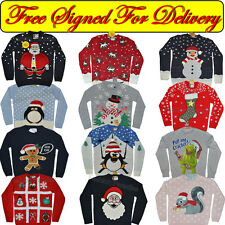 Adults mens ladies womens xmas christmas jumper novelty sweater knitted Primark