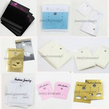 100/500pcs New Designs Jewelry Studs Earring Plastic Display Cards Package J