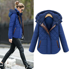 Womens Blue Overcoat Gap Padded Hoodie Ski Coat Puffer Parka Quilted Jacket
