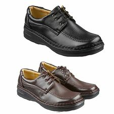 Mens Lace Up Leather Shoes Size 6 to 11 UK - WORK CASUAL LEISURE FORMAL -  06