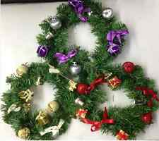 "9"" DECORATED WREATH ROUND CHRISTMAS FESTIVE DECORATION XMAS HOME OUTDOOR PARTY"