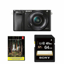 Sony Alpha a6000 24.3MP Camera with 16-50mm Lens plus 64GB Card and Adobe LR5