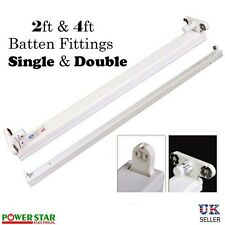 Slimline T8 Fluorescent Tube Single Twin Batten Fitting Strip 2ft 4ft 18W & 36W