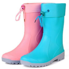 Women New Non-Slip Rain Boots Rubber Rain Shoes Wellies Removable Liner  KX0011