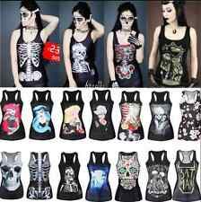 Women Girl Punk Style Tank Top Vest Blouse Sportwear Gym Yoga Fitness T-Shirt