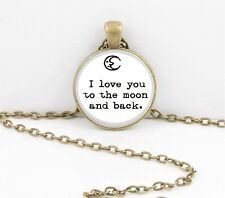 I love you to the moon and back Gift Pendant Necklace