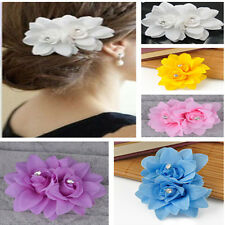 Fashion Hair Flower Clip Pin Bridal Wedding Prom Women Girls Elegant Headwear