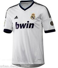 Real Madrid FC Home Football Shirt White 2012/13 Jersey Top Mens Adidas S,L, NEW