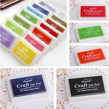 Candy Color Rubber Stamps Practical Useful Craft Ink Pad for Paper Wood Fabric