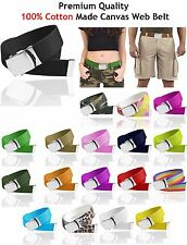 Canvas Belt Brand New Military Web Shinny Buckle Wholesale Men Women 13 Colors