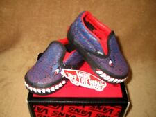 NEW VANS T REX CLASSIC SLIP-ON SHOE  BLUE BOYS TODDLER SIZES 4, 4.5, 5, 5.5