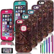 "Real Tree Camo Hybrid Rugged Rubber Matte Case Cover for iPhone 6 4.7"" Plus 5.5"""