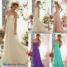 New Long Chiffon Bridesmaid dress Evening Formal Party Prom bride Cocktail dress