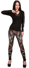 Spiral Direct OBSIDIAN ALL OVER COMFY FIT LEGGINGS Rock/Goth/ Metal/Dragon/Wild