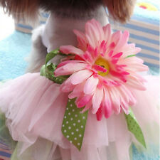 New Pet Clothes Puppy Clothing Dog Princess Dress With Sunflower Shirt For Dogs