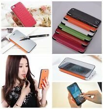 Luxury Touch Screen Mirror Flip Leather Battery Cover Case for Mobile Phone
