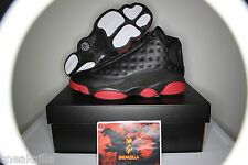 Nike Air Jordan Retro XIII 13 BLACK GYM RED 2014 Dirty BRED 414571-003 Sz: 4-14