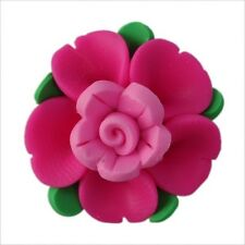 Hotsell New Mixed Color Double-deck Rose Flower FIMO Polymer Clay Flatback Beads