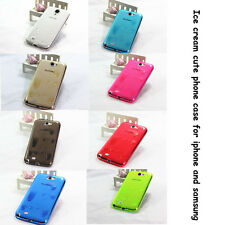 Hot 3D Melt ice-Cream TPU Soft Cover Case For various iPhone and Samsung Case