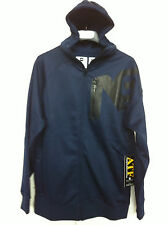 NEW ANALOG TRANSPOSE RIDEABLE HOODED SWEATSHIRT FULL ZIP MOON BLUE S M L XL 2013