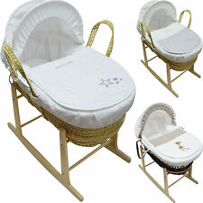 Baby Moses Basket & Rocking Stand Beautiful Deluxe Designs NEW CHEAPEST
