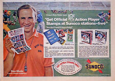 Vintage 1972 comic page Sunoco ad w/ Miami Dolphins coach Don Shula - NFL stamps