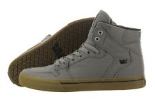 Supra Vaider Gum S28238-GRY Canvas Grey Skateboarding Shoes Medium (D, M) Mens