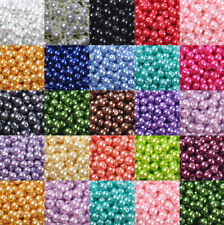 Wholesale 4mm 50Pcs Glass Pearl Spacer Loose Beads Charms Findings 19 Colors