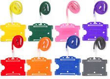 ID Identity Badge Holder & Lanyard For ID Card Free Delivery Choose Colour & Qty