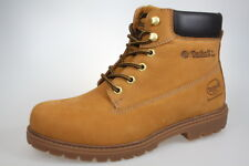 Dockers Boots, to Lace-Up, Yellow, Real Leather, Fabric Lining New