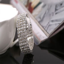 Hot Fashion Crystal Rhinestone Stretch Bracelet Bangle Wedding Bridal Wristband