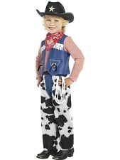 Childrens Boys Book Day Fancy Dress Ropin Cowboy Costume + Hat S & M 1st Class