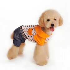Cute Pet Puppy Love Heart Pattern 4 Leg Coat Clothes for Dogs  (assorted sizes)