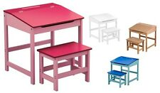 QUALITY KIDS DESK & CHAIR SET CHILDREN TABLE BLUE PINK