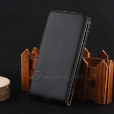 Hot Sale Flip Magnetic Open Black Leather Pouch Cell Phone Case Cover