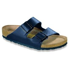 Birkenstock Arizona Sandals Soft Footbed  - Color Blue - Birko-Flor
