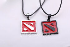 Free shipping Hot Online Game Dota II Alloy Red/ Black Symbol Pendant Necklaces