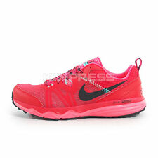 WMNS Nike Dual Fusion Trail [652869-601] Running Action Red/Black-Hyper Punch