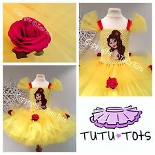 Belle Princess Inspired Tutu Tots Dress, Party, Fancy, Costume 1-10yrs