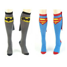 Super Hero Superman / Batman Knee High With Cape Soccer Cosplay Football Socks