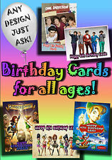 PERSONALISED birthday card Large A5 size 100''s of designs incl disney greetings
