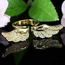 Angel Wing Gold Plated Ring use Swarovski Crystal SR096