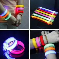 2015 CLEARANCE items LED Light Up Glow Nylon Wristband Bracelet Disco Party Club