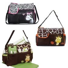 Multi-function Baby Diaper Nappy Changing Bag Changing Mat Mummy Tote Handbag
