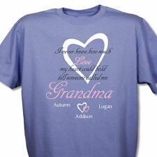 How Much Love Personalized Custom Name T-Shirt 4 Colors - Grandma, Grannie, Oma