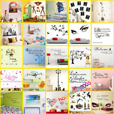 30 Types Removable Peel&Stick PVC Vinyl Art Wall Stickers Home Decor Room Decals
