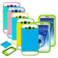 For Samsung Galaxy S3 S III i9300 Hybrid Best Impact Dual Layer Hard Case Cover