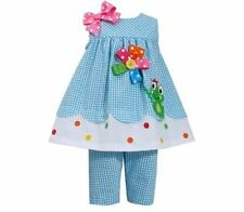 Bonnie Jean Summer Frog Outfit Sizes 4 5 6X Girls New